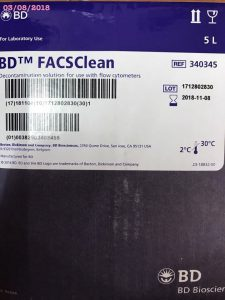 BD FACSClean hóa chất đếm tế bào CD4 BD