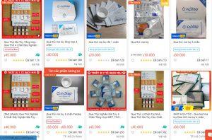 Hàng trăm kết quả khi tìm que thử ma túy trên Shopee